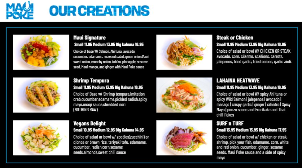 Maui Poke menu updated 1